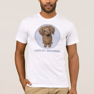Dachshund Granddog (de pelo largo) Playera