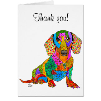 Dachshund Greeting Card (You can Customize)