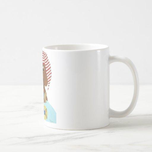 Dachshund Guarding Santa's Cookies Coffee Mug