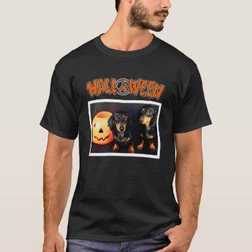 Halloween Themed Dachshund Halloween T-Shirt