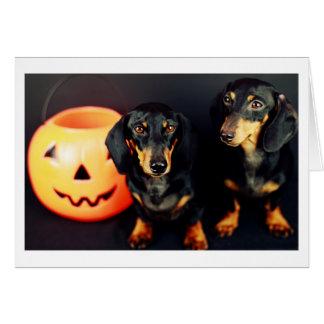 Dachshund Halloween Tarjeta De Felicitación