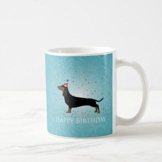 Dachshund Happy Birthday Design Coffee Mug