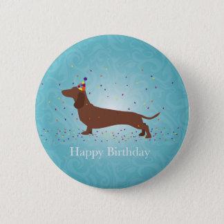 Dachshund - Happy Birthday Design Pinback Button