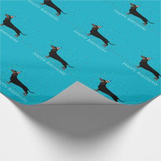 Dachshund Happy Birthday Design Wrapping Paper