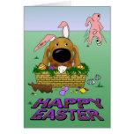 Dachshund Happy Easter Card