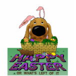 Dachshund Happy Easter Sculpture Cut Out