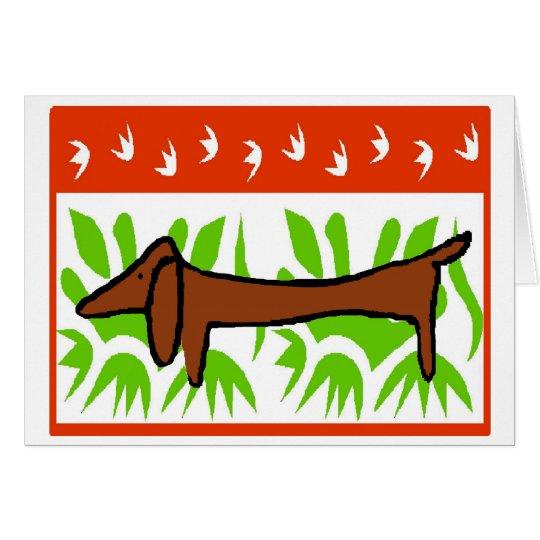 Dachshund Happy Holiday Card
