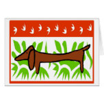 Dachshund Happy Holiday Greeting Cards
