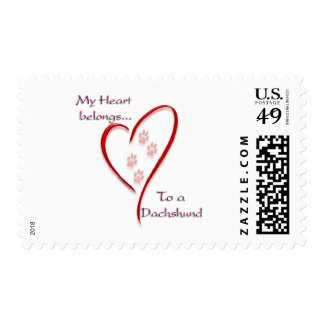 Dachshund Heart Belongs Postage