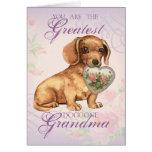 Dachshund Heart Grandma Greeting Card