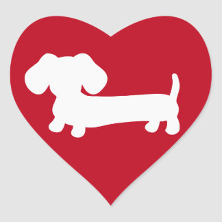 Dachshund Heart Love Envelope Seals Stickers