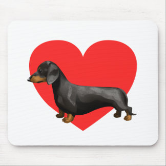 Dachshund Heart Mouse Pad