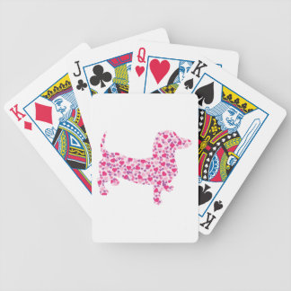 Dachshund Hearts Bicycle Playing Cards