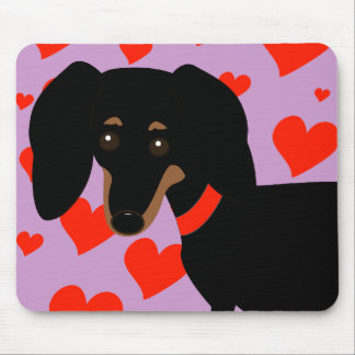 Dachshund Hearts Mouse Pad