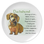 Dachshund Heritage of Love Plates