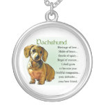 Dachshund Heritage of Love Round Pendant Necklace