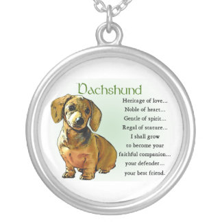 Dachshund Heritage of Love Silver Plated Necklace