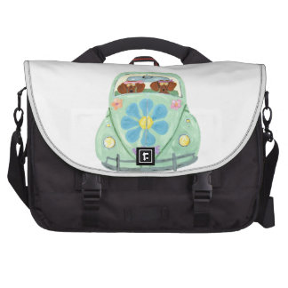 Dachshund Hippies In Their Flower Love Mobile Laptop Bag