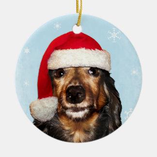Dachshund Holiday Ornament