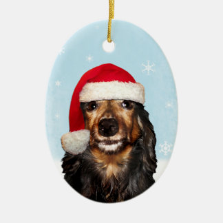 Dachshund Holiday Ornament (double sided)
