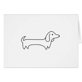 DACHSHUND, HOT DOG, SAUSAGE DOG, CUTE, DOG LOVER CARD