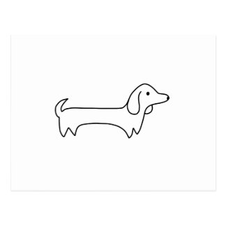 DACHSHUND, HOT DOG, SAUSAGE DOG, CUTE, DOG LOVER POSTCARD