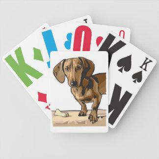 Dachshund Image Bicycle Playing Cards