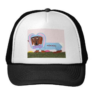 Dachshund In Blue Easter Bunny Suit Trucker Hat