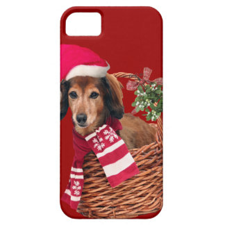 Dachshund in Christmas Basket Iphone Case