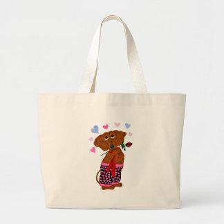 Dachshund In Pink Heart Shorts Bag