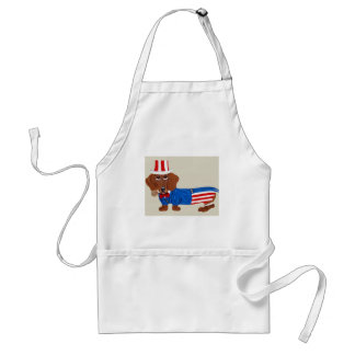 Dachshund In Uncle Sam Suit Adult Apron