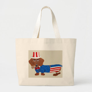 Dachshund In Uncle Sam Suit Bags