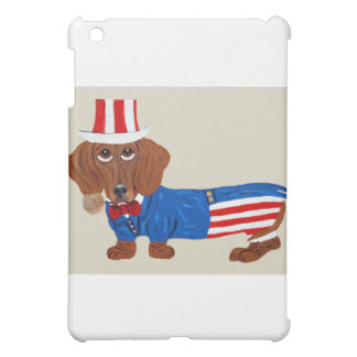 Dachshund In Uncle Sam Suit Case For The iPad Mini