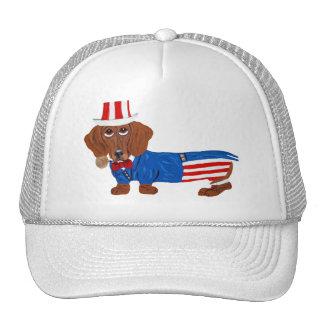 Dachshund In Uncle Sam Suit Trucker Hat