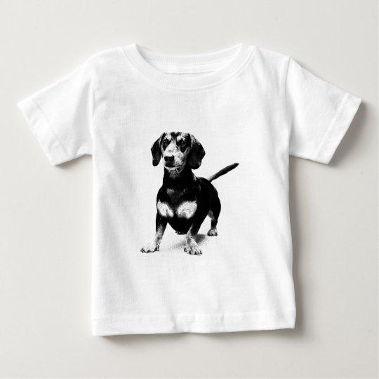 Dachshund Ink Drawing Baby T-Shirt