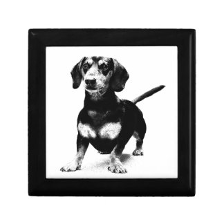 Dachshund Ink Drawing Jewelry Boxes