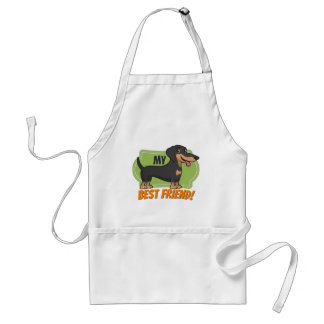Dachshund is my best friend! adult apron