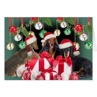 Dachshund Jingle Bells Cards