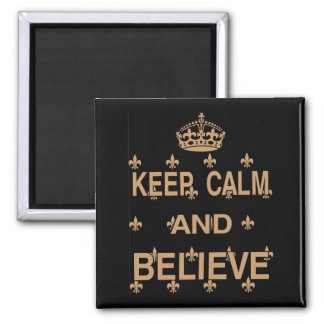 Dachshund, Keep Calm Believe Magnet