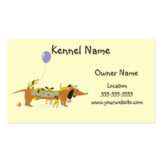 Dachshund Kennel-Mom and Pups Double-Sided Standard Business Cards (Pack Of 100)