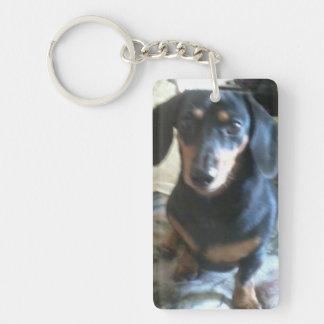 Dachshund key-chain (or design your own) Single-Sided rectangular acrylic keychain