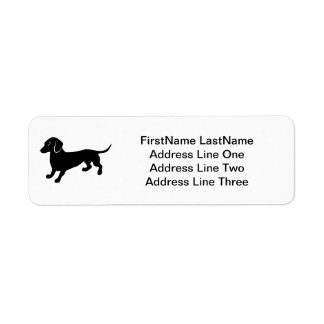 Dachshund Label