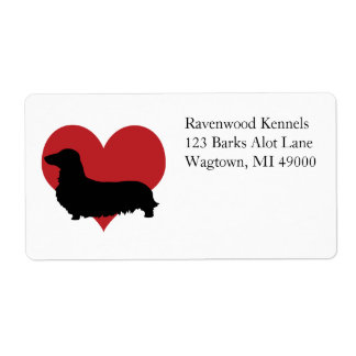 Dachshund Personalized Shipping Labels