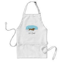 Dachshund Let it Snow - Happy Winter Wiener Dog Adult Apron