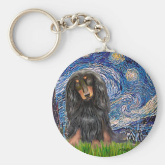 Dachshund (LHBT) - Starry Night Keychains