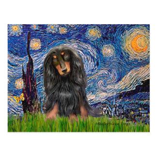 Dachshund (LHBT) - Starry Night Post Cards