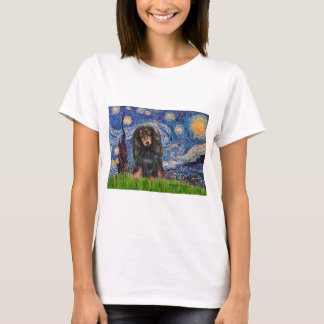 Dachshund (LHBT) - Starry Night T-Shirt