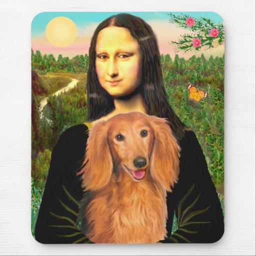 Dachshund (LHSable) - Mona Lisa Mouse Mats