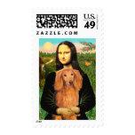 Dachshund (LHSable) - Mona Lisa Postage