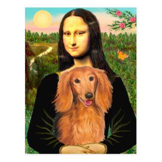 Dachshund (LHSable) - Mona Lisa Postcard
